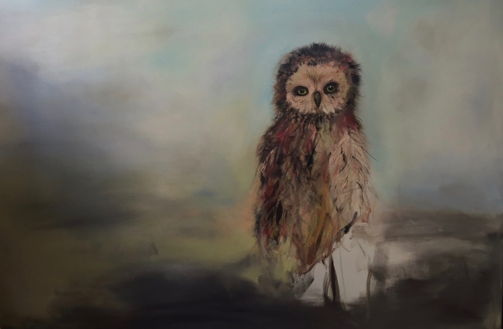 Mr. Owl- Oil on Canvas- SOLD