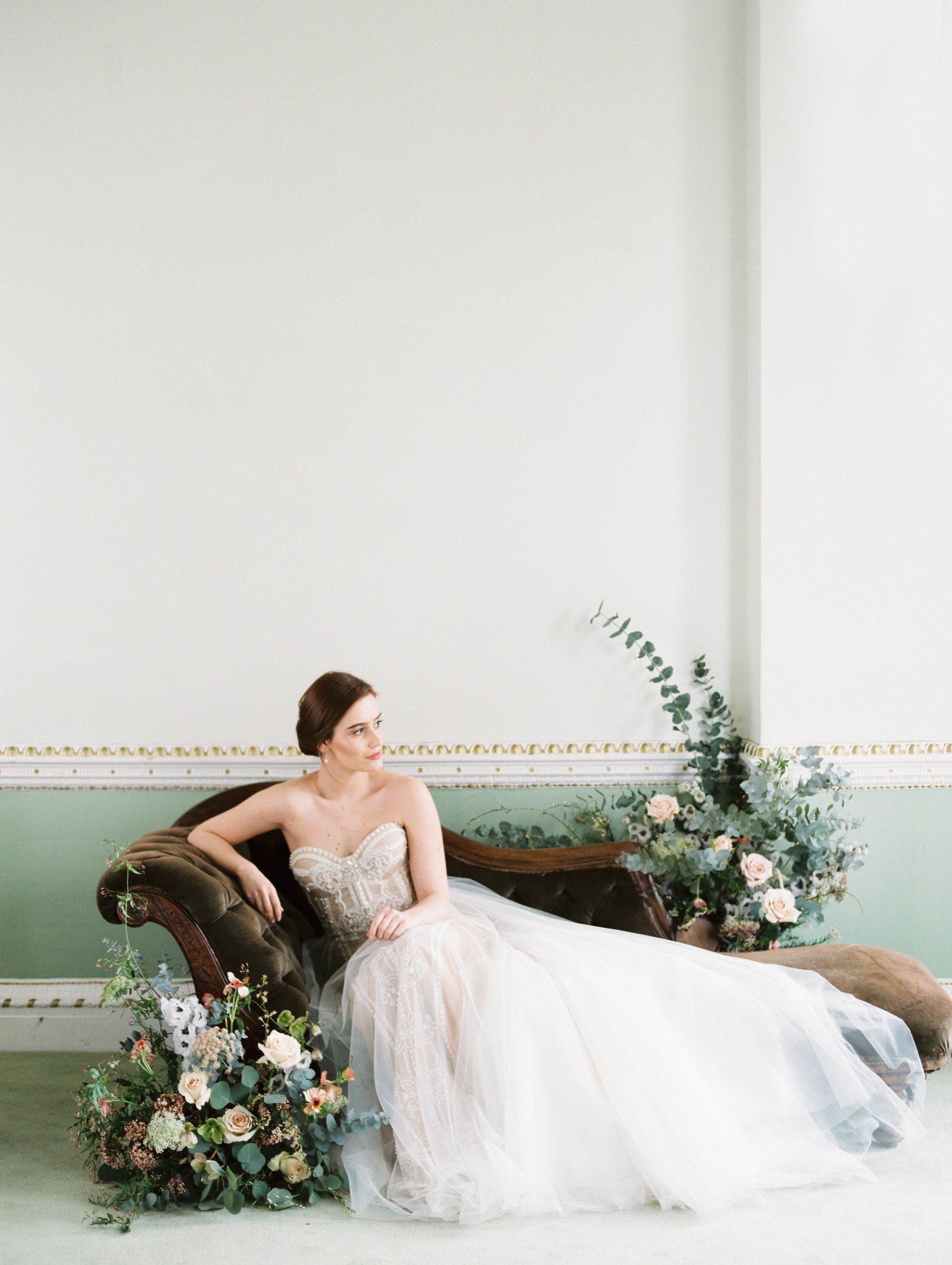 The Timeless Stylist-Elegant and Romantic Wedding Styling-Fine Art Bride on Chaise.jpg