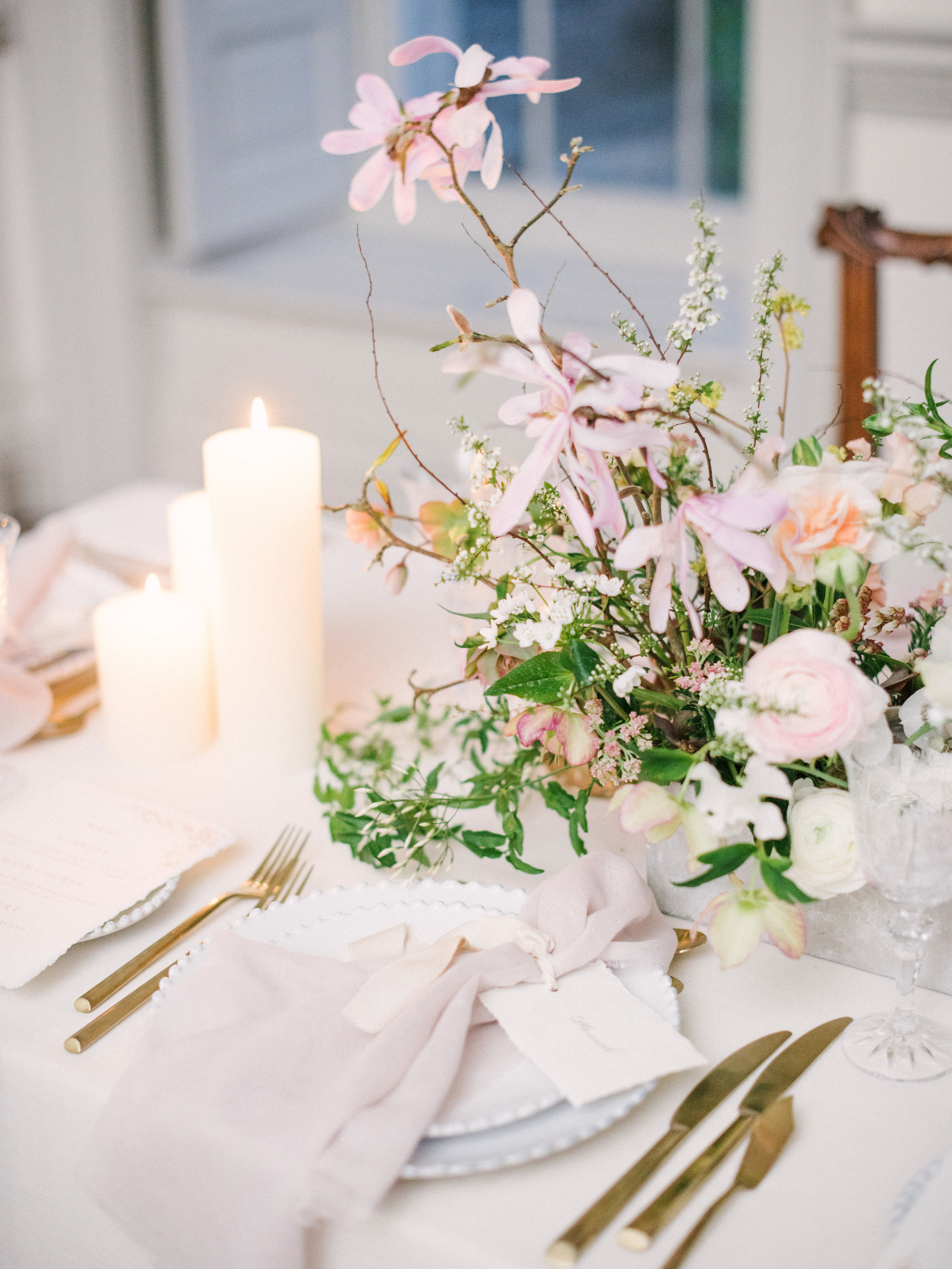The Timeless Stylist-Elegant Wedding and Event Styling-Spring Tablescape