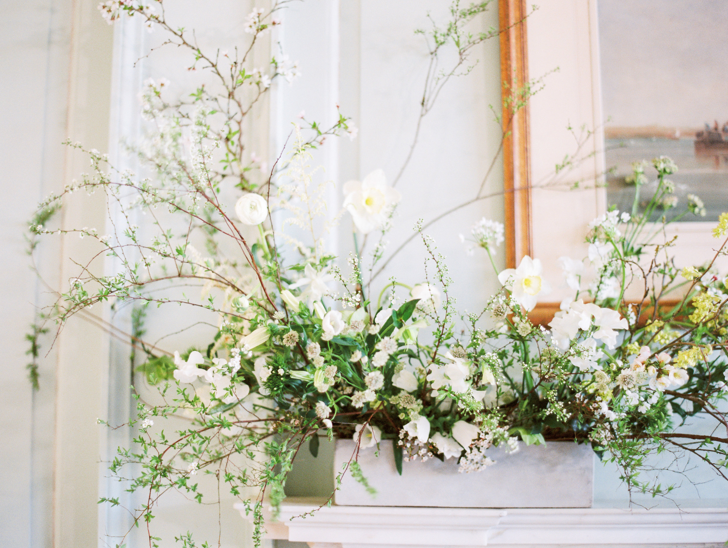 The Timeless Stylist-Elegant and Timeless Wedding Design and Styling-Spring Wedding Flowers at Boconnoc Stately Home Wedding Venue