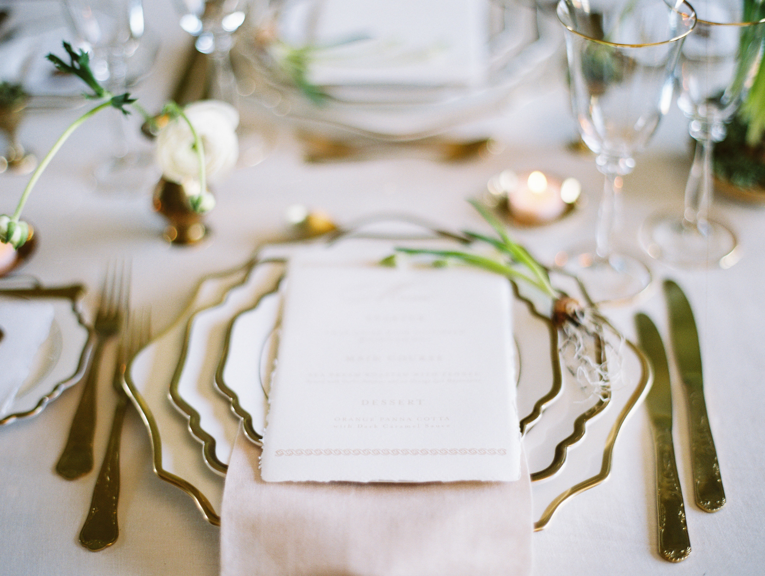 The Timeless Stylist-White and Gold Plates-Gold Cutlery