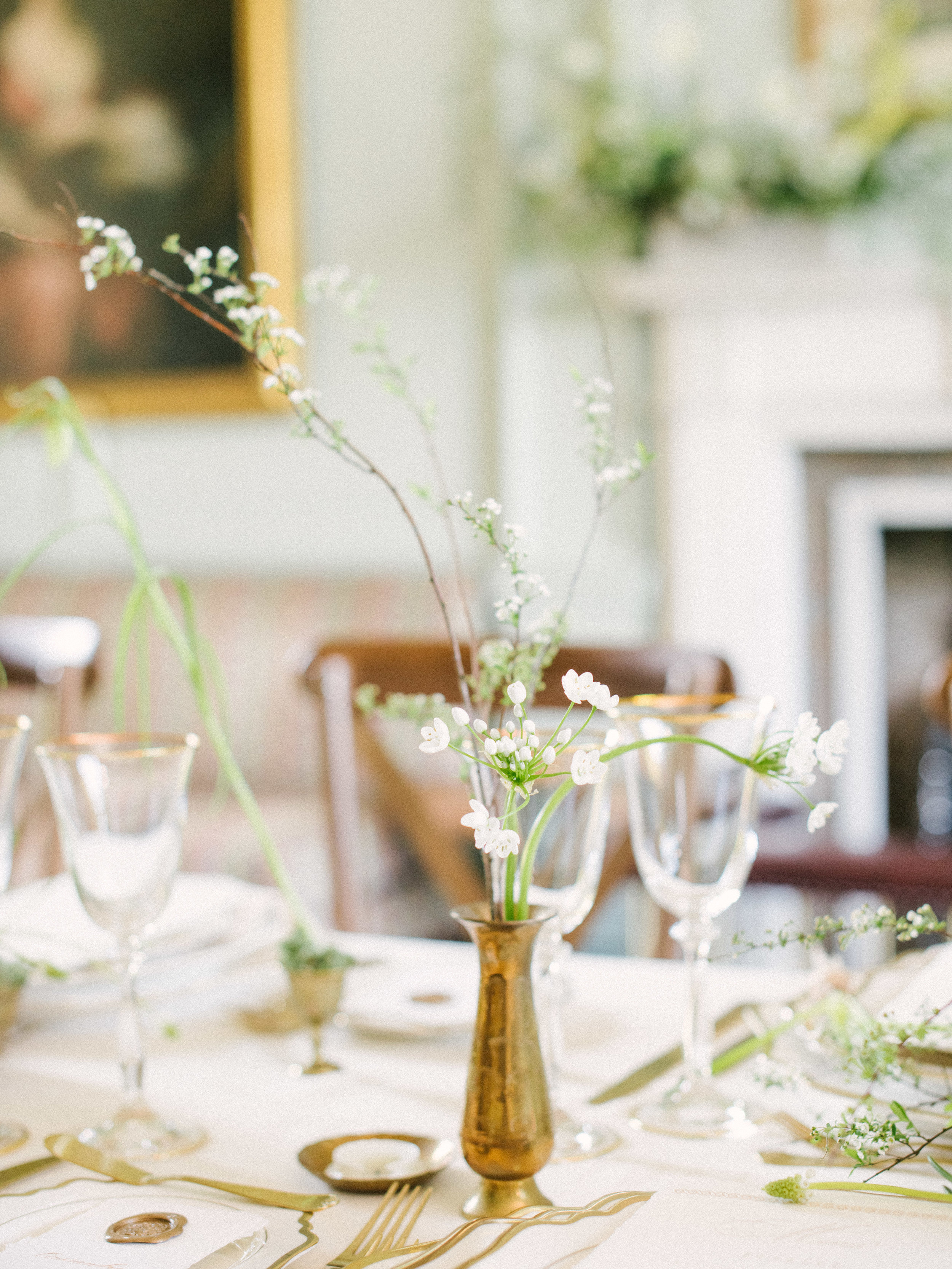 The Timeless Stylist-Brass Vase-Spring Table Styling