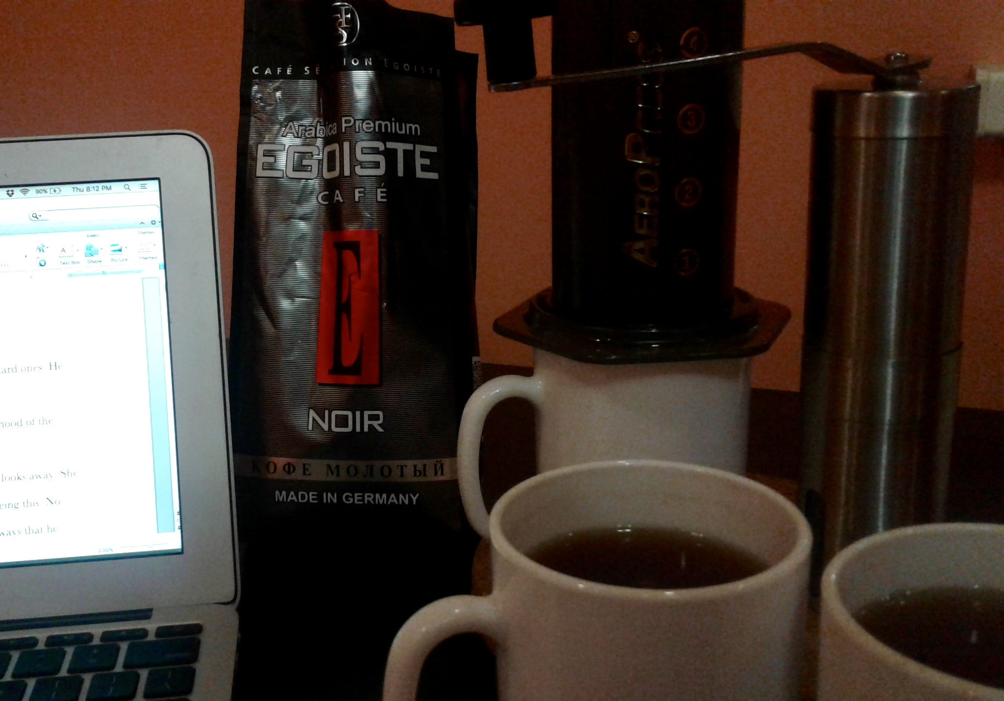 It was a heavy workweek for me, and once again, the Aeropress has proved to be the writer's best friend in all time zones and at all latitudes.