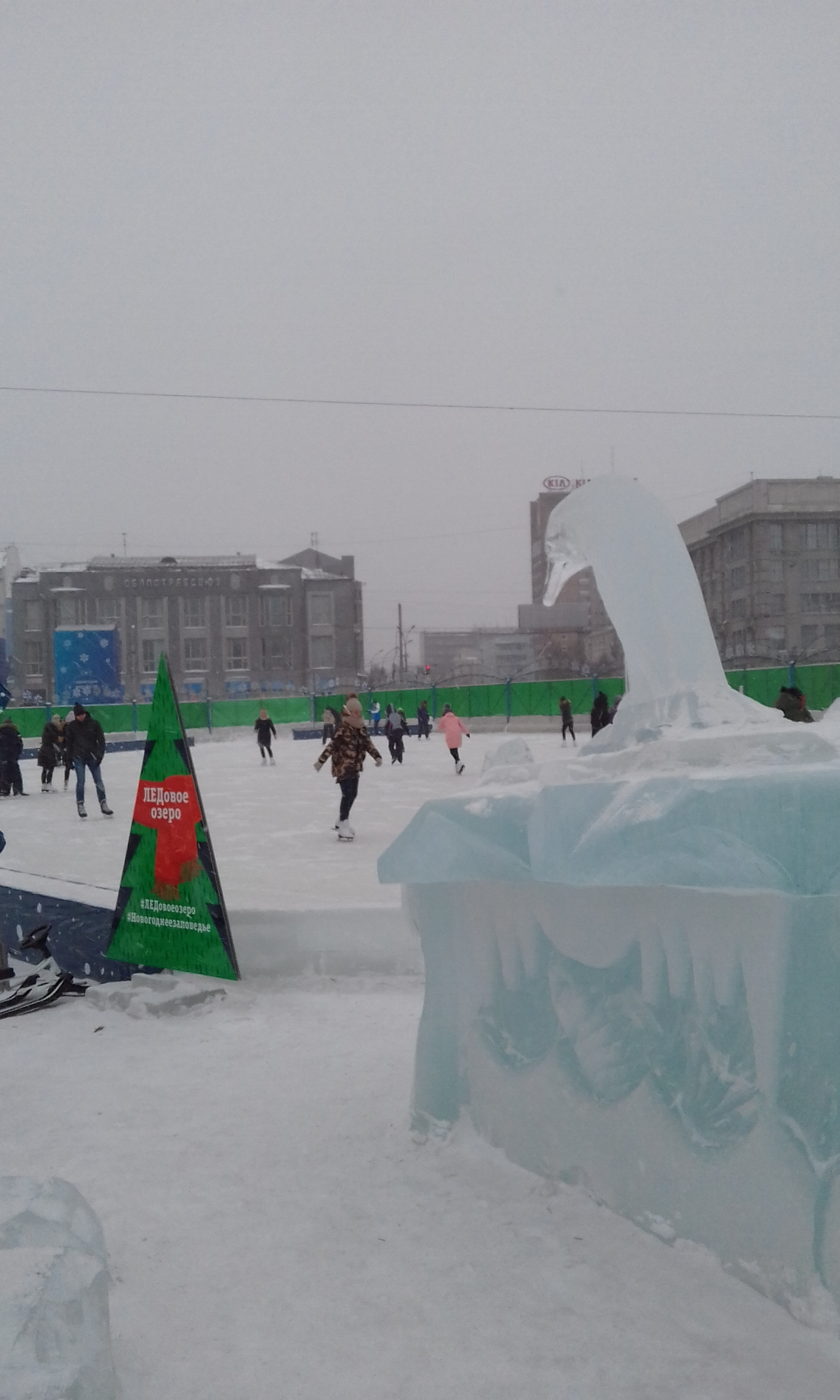 This story about food eventually connects to Novosibirsk. In the meantime, enjoy a view of the municipal skating rink, and its ever-vigilant penguin guard.