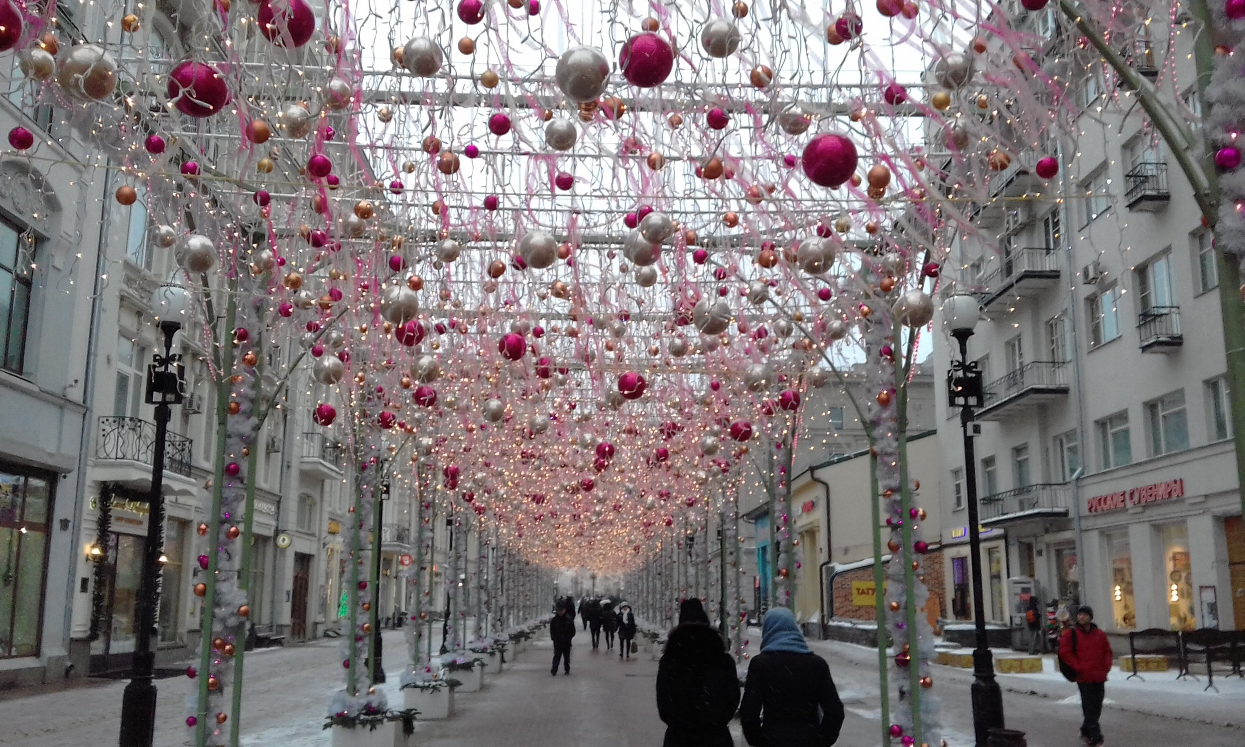 Among this week's highlights: a quiet stroll through Moscow.