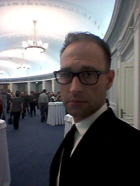 I've wanted to see the opera Tosca ever since it appeared as the backdrop on a scene in Quantum of Solace. Here I am in the lobby, lobbying (unsuccessfully) for a role as Daniel Craig's stunt double.