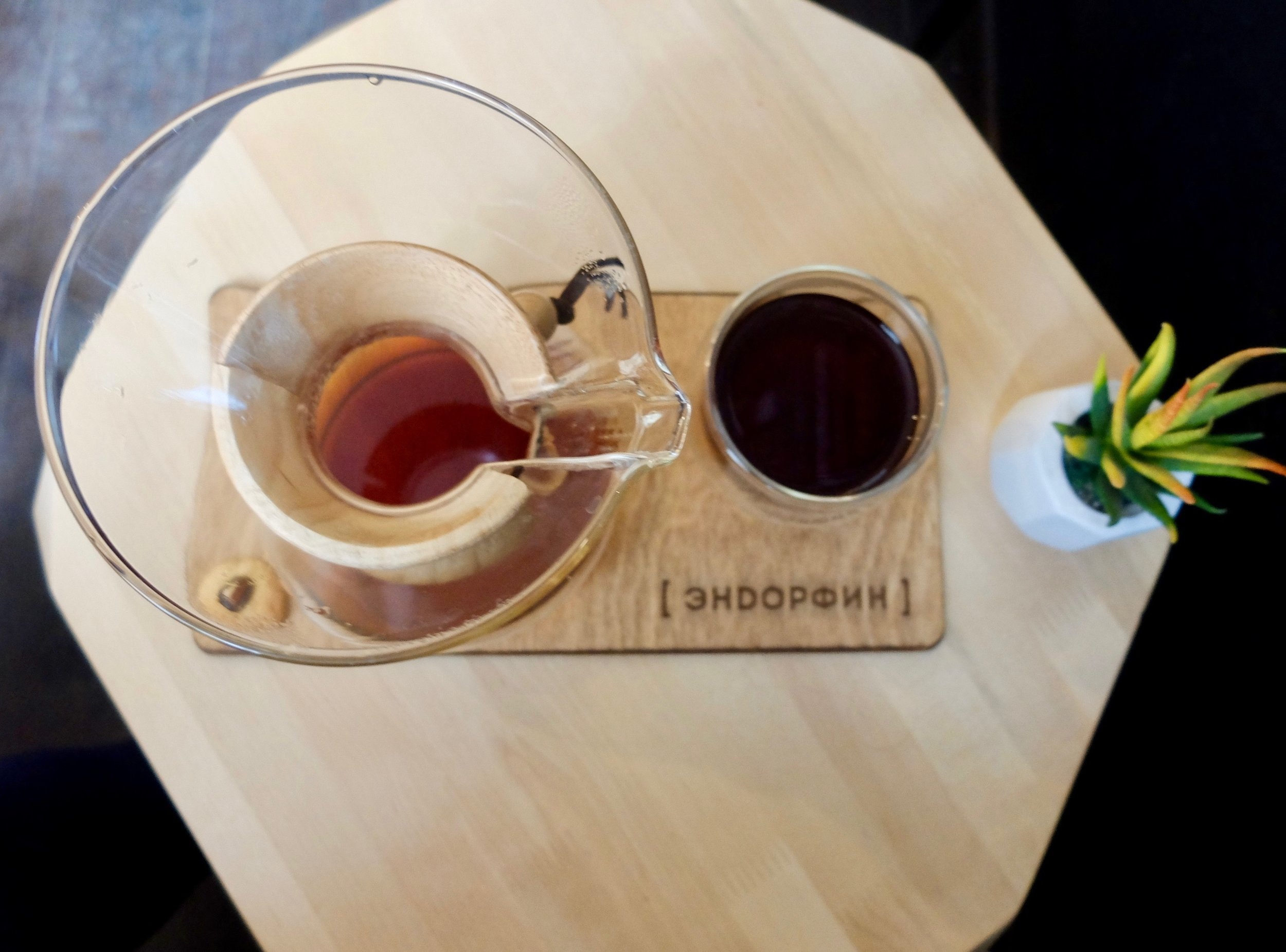 Russian food and beverage: as aesthetically pleasing as it is delicious, as proven by Endorfin Coffee in Tomsk.