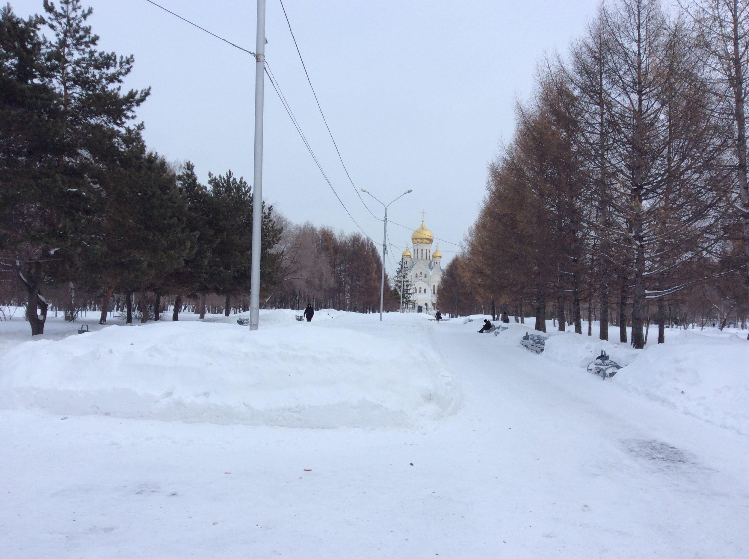 Snow: Jan. 12, 2017, Novosibirsk, Siberia.