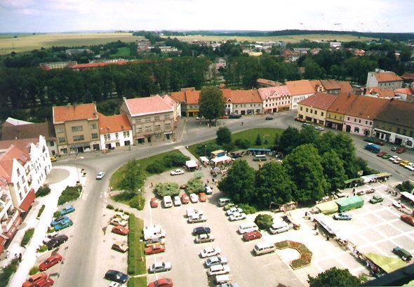 Sobeslav's central square today. Photo by Martin Bilek.
