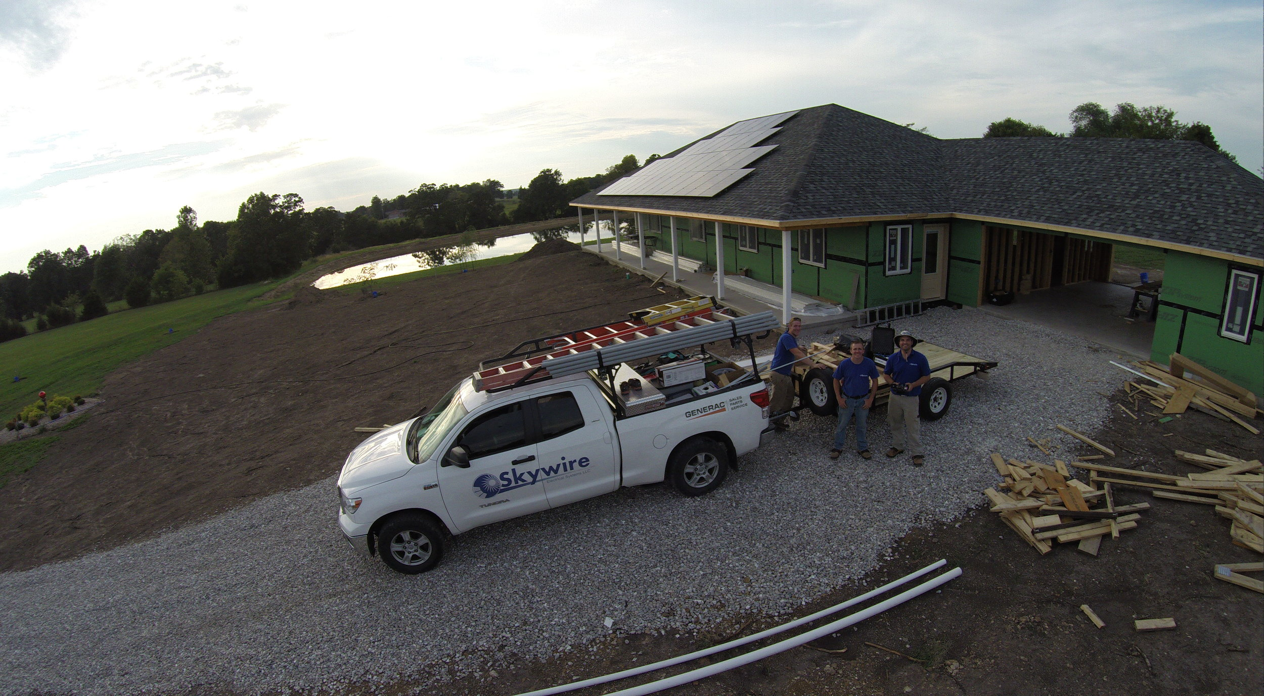 Skywire Solar Power Installation