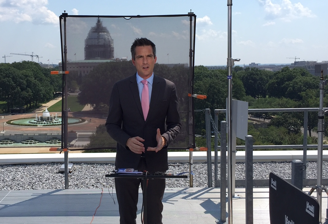 Jonathan reporting from Washington, D.C. on the US election