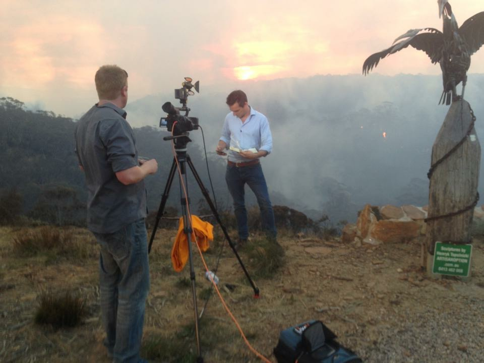 Jonathan Samuels reporting on the Australian bushfires