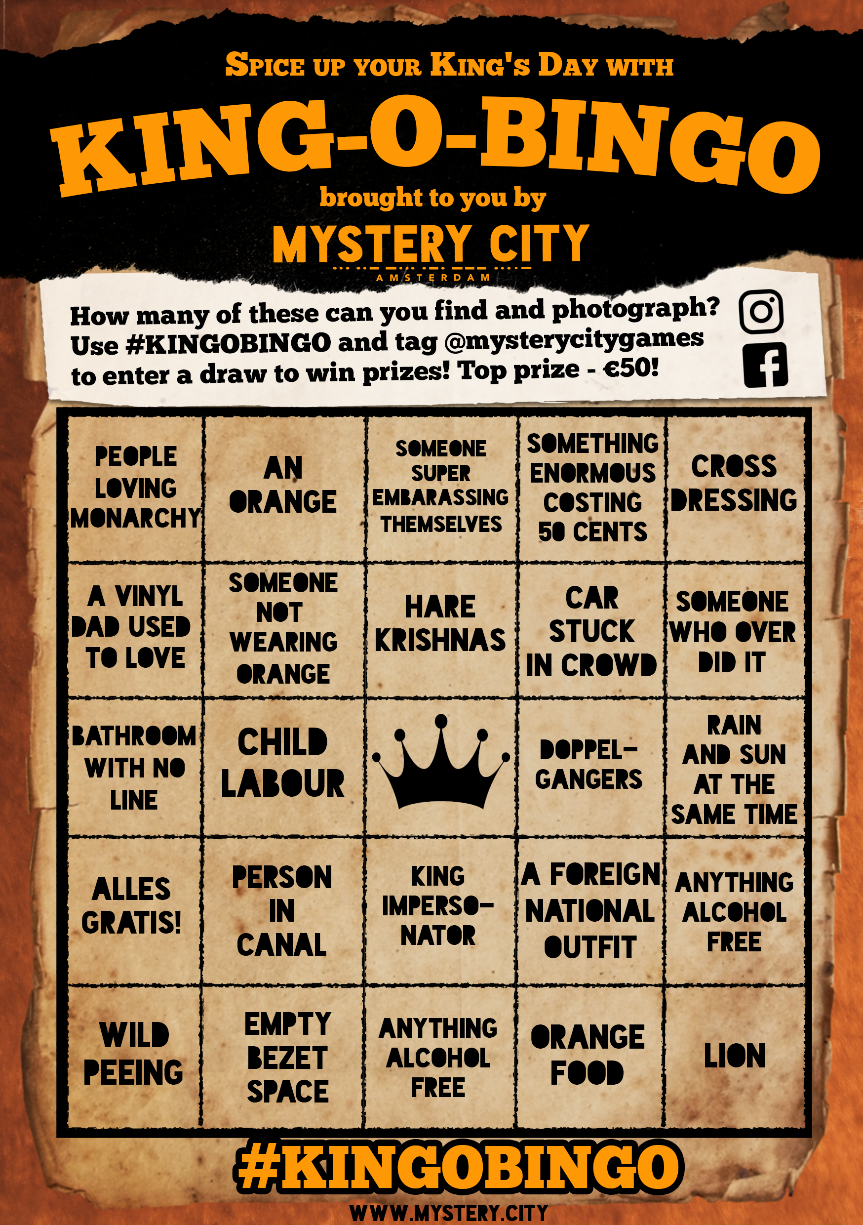 mystery city king o bingo