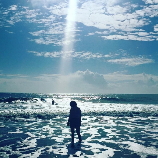 Patricia in the Atlantic ocean outside Charleston, SC. December 28, 2015.  Photo by Josie Wheeler.