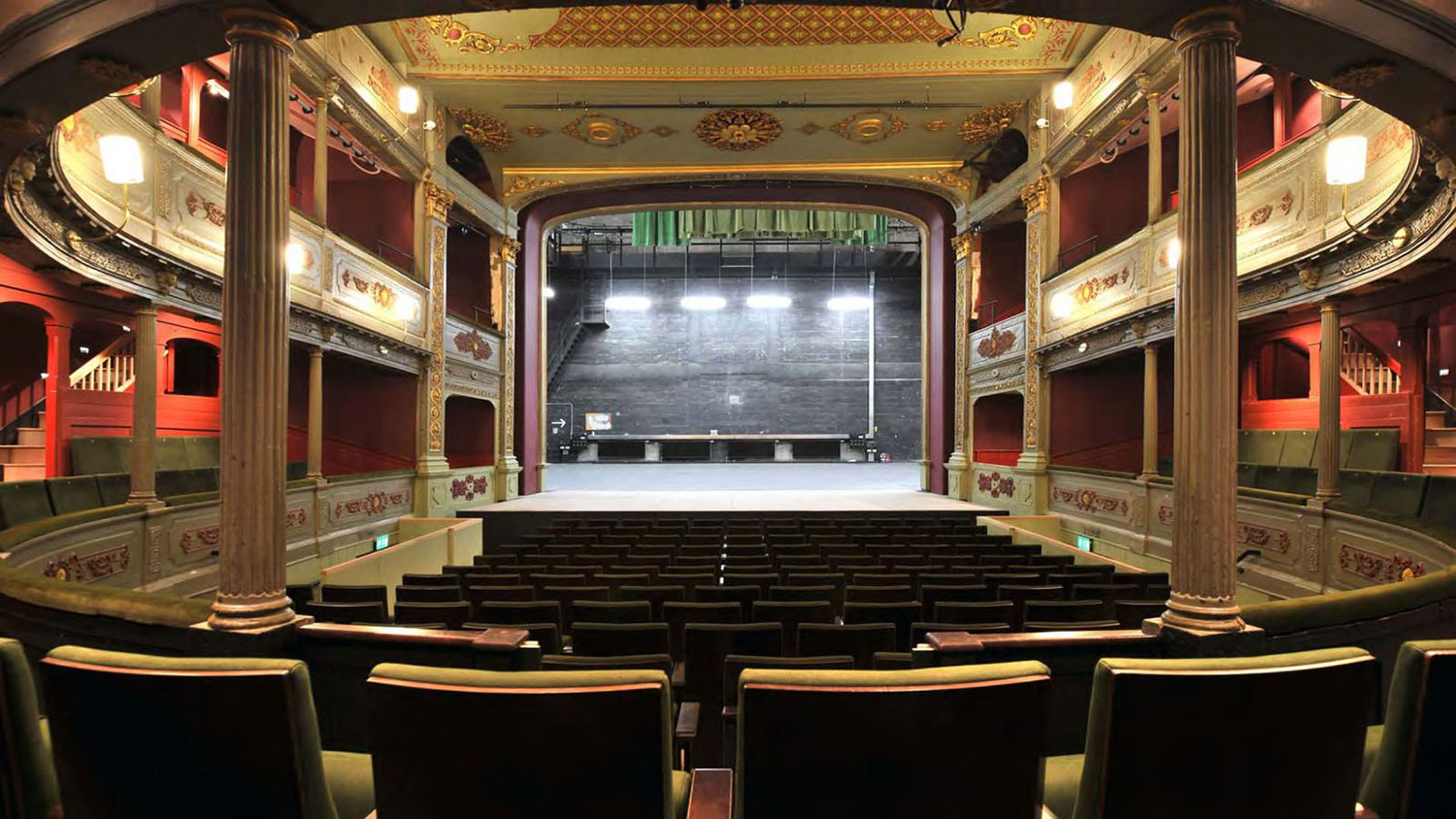 Bristol Old Vic auditorium looking towards the stage - image courtesy Bristol Old Vic