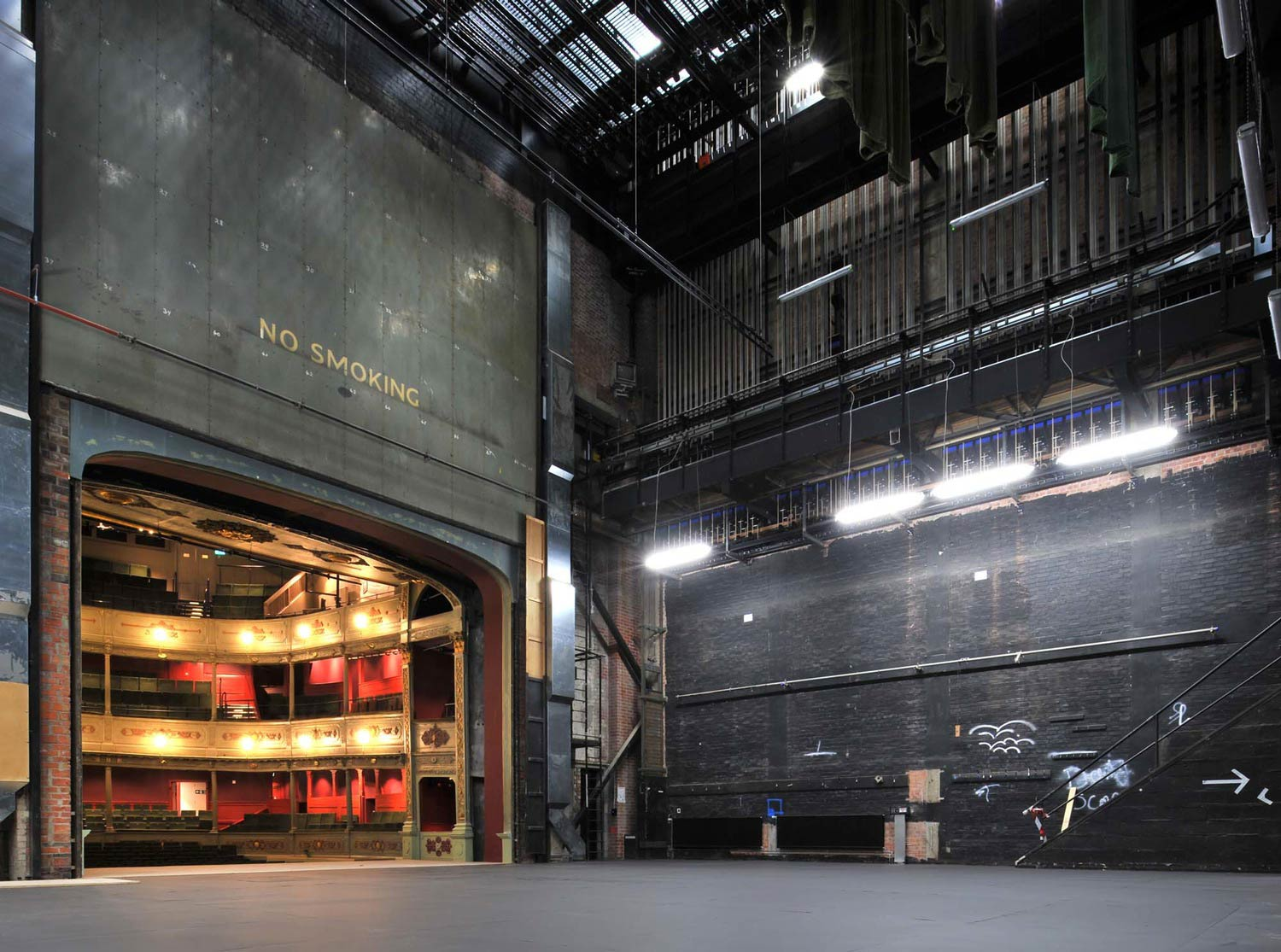 Backstage at Bristol old Vic. Image courtesy Bristol Old Vic