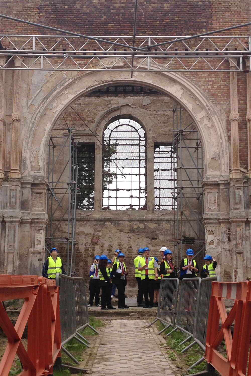 Preliminary site visit for the Sheerness Dockyard Church restoration team
