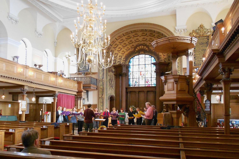Choir rehearsals at St Alfege Church