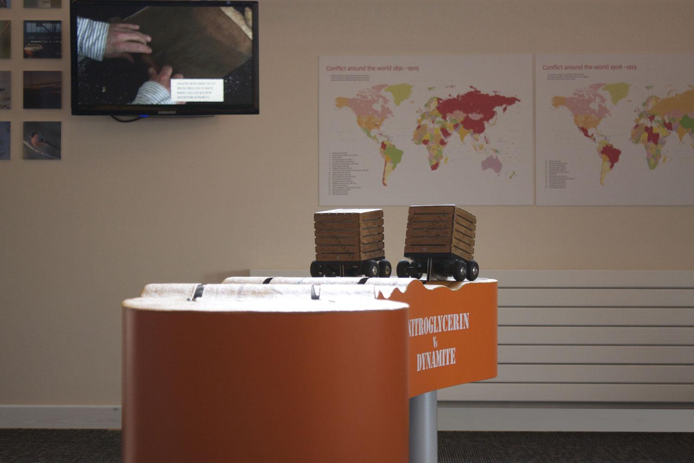 Wat Tyler Centre explosives exhibition interpretation – image courtesy Dotco