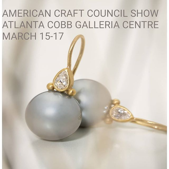 Please come by the @craftcouncil show #accatlanta this weekend  #22kgold #handmadejewelry #finejewelry #cjdgjewelers  #timelessdesign  #designerjewelry #handcrafted #tahitianpearls