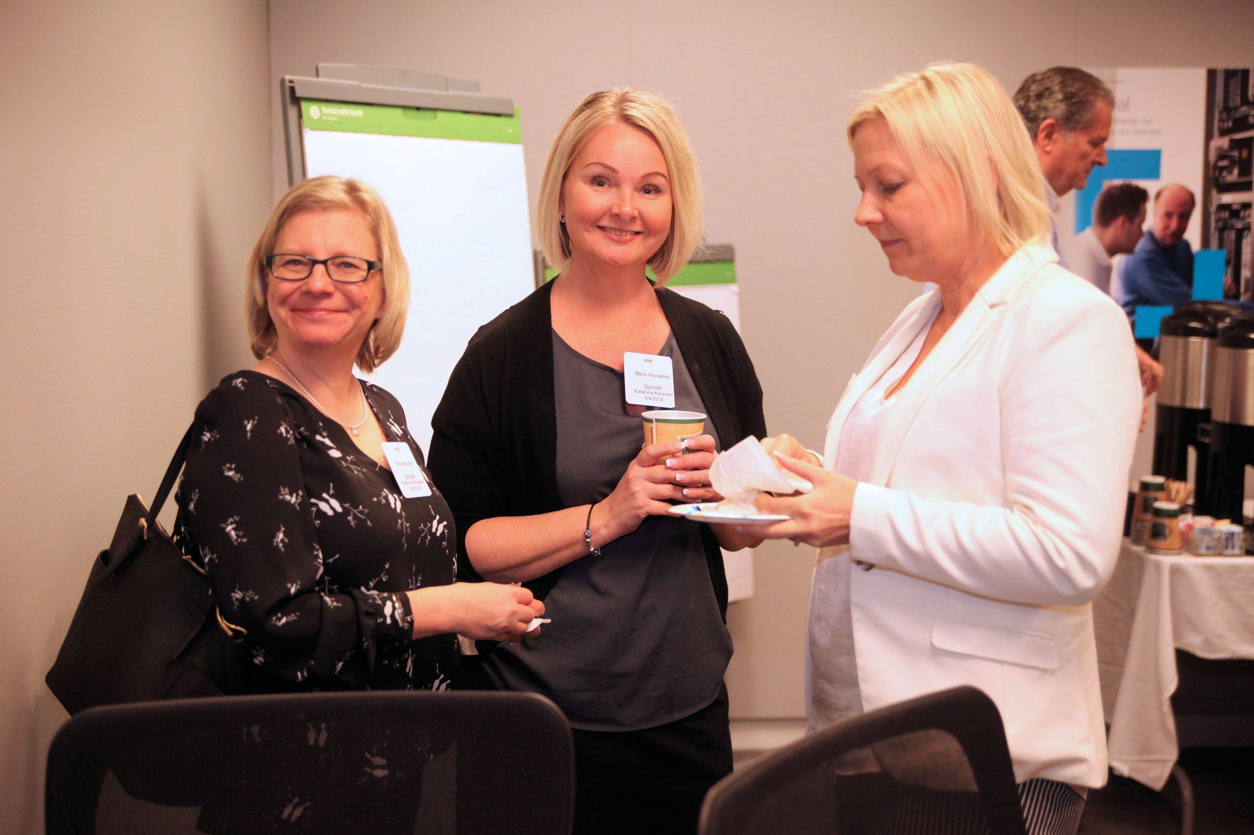 (from left) Aino Aaltonen, Mervi Hirvilampi and Mari Salonen -