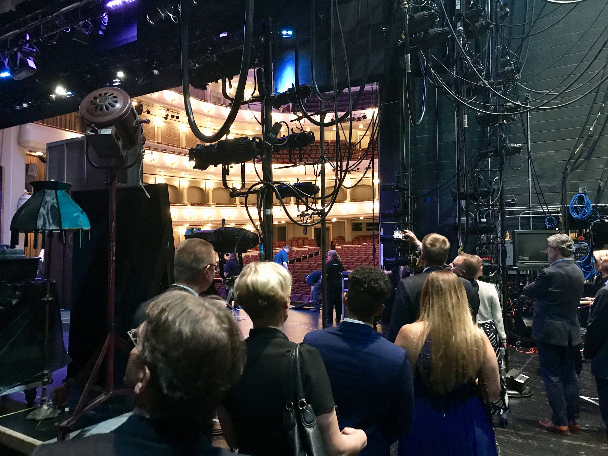 At the backstage - Photo by Vesa Jäämuru