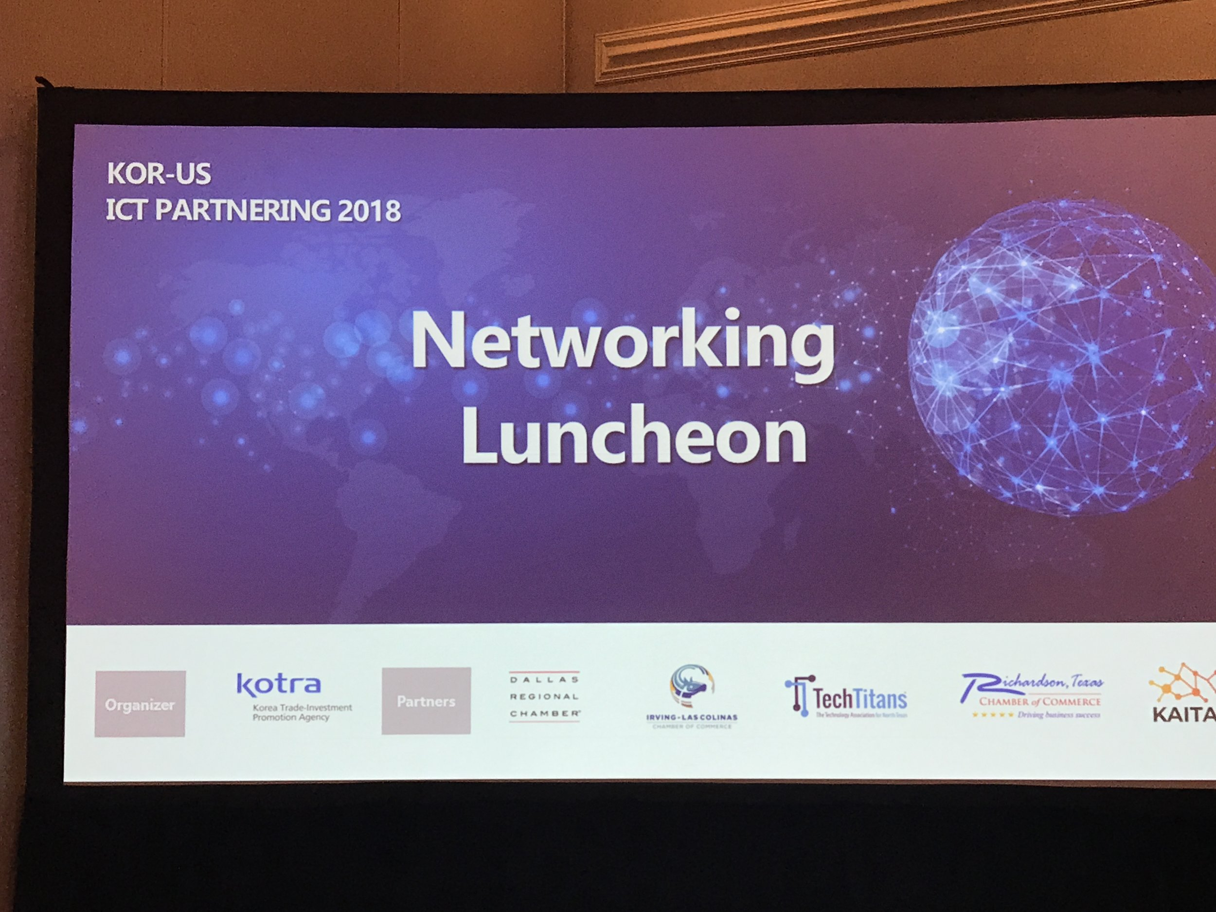 KOR-US ICT Partnering 2018 - exhibition & conference, luncheon