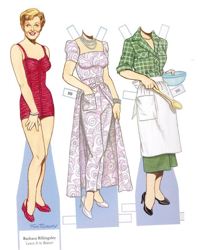 It's the June Cleaver paper doll!