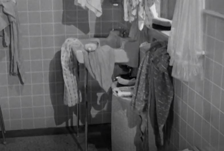 Clean kid / dirty bathroom
