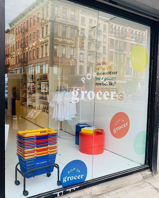 "Nothing is more #newyork than walking the same street everyday, only to happen upon a new #experience . Right now, nothing is more #millennial than the @popup.grocer on #bowery in #nolita . On my commute home this past weekend I happlessly entered the space, enticed by the bright aesthetics and straightforward branding.  The traveling pop-up is a nod to the classic #nyc #bodega mixed with innovative #naturalfoodbrands . Walking through the small space, the kitschy (i.e. ""crunch"", ""balls, bars + bits"") organization of products was effective in showcasing the grocery's personality. It is playful in design, with lots of primary colors, but serious about giving each customer a wide range of wholesome foods.  #popupgrocer covered the basics with the contemporary customer checklist including: #cbd products, floral displays, #naturalbeauty, Instagrammable appeal, trendy zines and a #socialjusticemission: 5% of all profits are donated to support @Plannedparenthood of New York City. The prices range depending on the brand, but there is definitely something for everyone; whether that be a fresh floral bouquet or cashew queso.  While purchasing my sesame sourdough loaf freshly baked from @gertienyc , my cashier perfectly summed up my experience. ""I am most attracted to this space because, I've never seen so many brands created by peers from my generation all in the same place. To support them creates an economy of camaraderie."" Check out @popup.grocer on Bowery between #springstreet and #princestreet before it ends October 20th, and to see where they will pop-up next follow them on on social media.  #nycpopup #customerexperience #humandesign #rginc"