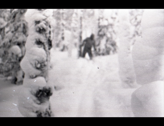 A final image found on a roll of film from the hikers which either shows one of their group dressing humorously portraying a type of Yeti creature, or shows as some believe, an actual Yeti