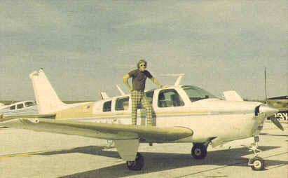 Bruce with his Bonanza A36