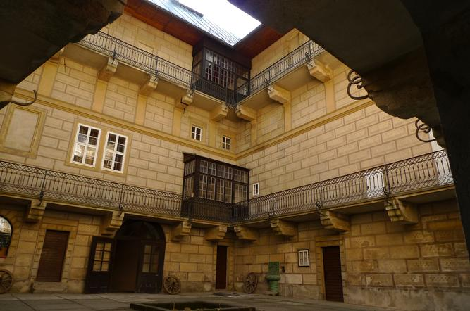 Shot of Houska's center courtyard by  VMG Č.Lípa