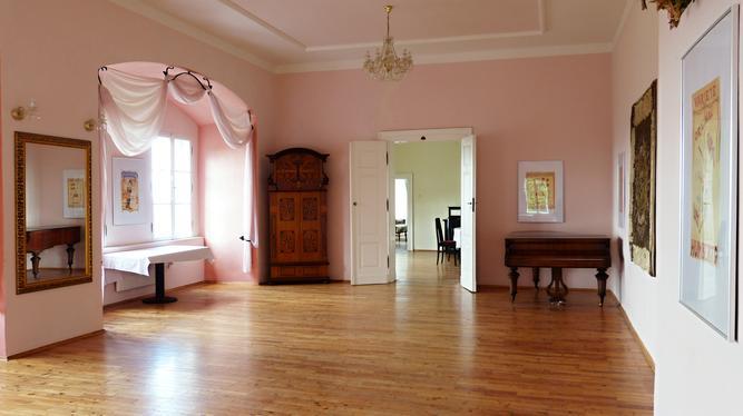 One of the many nicely finished rooms inside the castle with modern appointments. Photo by  Jiří Třeštík