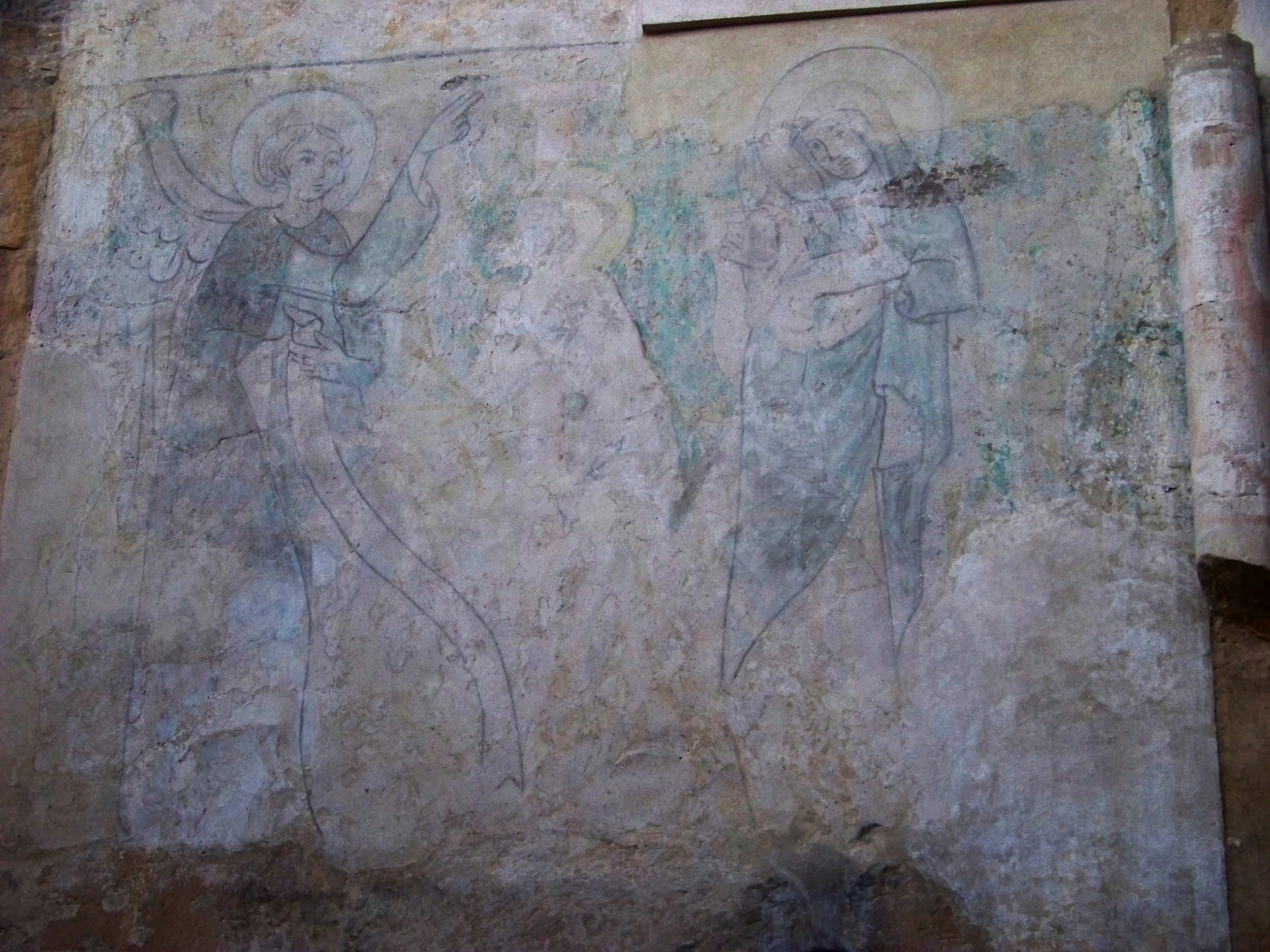Another medieval fresco depicting what appears to be a scene of angelic benediction to the wretched. Photo by  ŠJů ( cs:ŠJů ) used with  Creative Commons  Attribution-Share Alike 3.0 Unported license.
