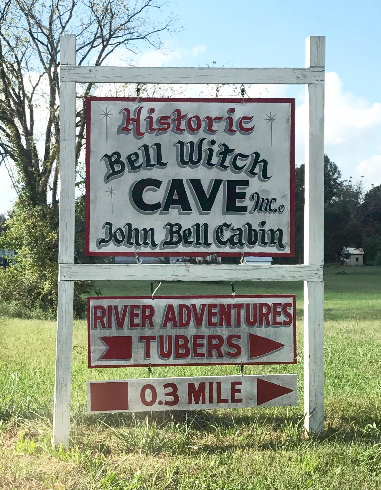 Photos of the Bell Witch Cave tour courtesy of listener Liz Shadbolt