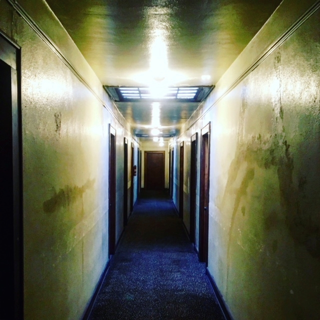 Another shot of the hallway of apartments above the Kent Stage