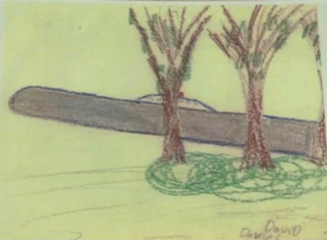 Dave Davies' drawing from 1977