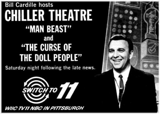 "Bill Cardille, aka ""Chill Bill,"" Horror Host from Pittsburgh, PA."