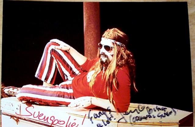 A signed publicity photo of Svengoolie