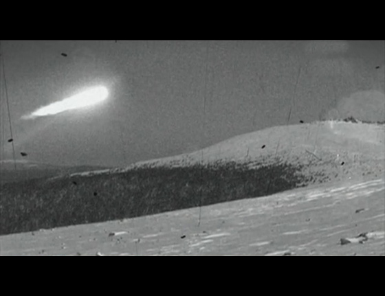 Another photo that is often associated with the event but is not believed to be from the film shot by the Dyatlov party. The mysterious fireball might be connected to a military exercise taking place in the region, as locals reported seeing large bright orbs in the sky during the days around the incident.