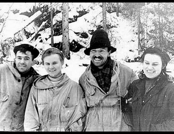 "Left to Right: Nicolai Thibeaux-Brignolle; Lyudmila ""Lyuda"" Dubinina; Semen (also written as ""Semyon"") ""Alexander"" Zolotarev; Zinaida ""Zina"" Kolmogorova"