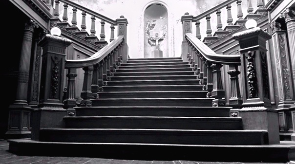 Staircase commissioned by The Most Hon. John Henry Wellington Graham Loftus, The Fourth marquess of Ely. It took 9 years to carve in Italy and 3 to assemble at the Hall in the 1870s – 80s. Image courtesy of Aiden Quigley, current owner of  Loftus Hall  and author  Chris Rush , All Rights Reserved.