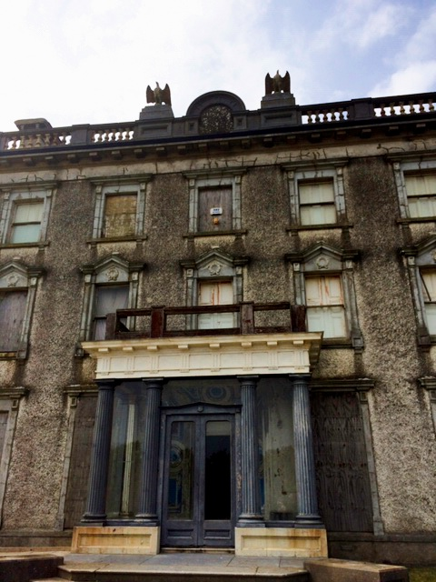Current condition of entrance to Loftus Hall. Image courtesy of Aiden Quigley, current owner of  Loftus Hall  and author  Chris Rush , All Rights Reserved.