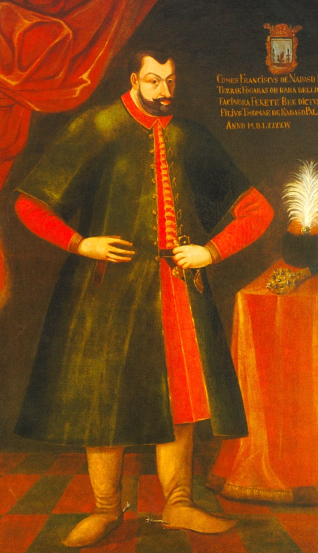 Count   Ferenc Nádasdy  (6 Oct 1555 – 4 Jan 1604) was a Hungarian nobleman, who would later be known as The Black Knight of Hungary for his leadership in the Ottoman Wars.  In 1571, at 16 years old, Ferenc was engaged to 12-year-old  Elizabeth Báthory .  They first lived at the Nádasdy family Castle, Castle  Sárvár , then later at  Čachtice Castle .