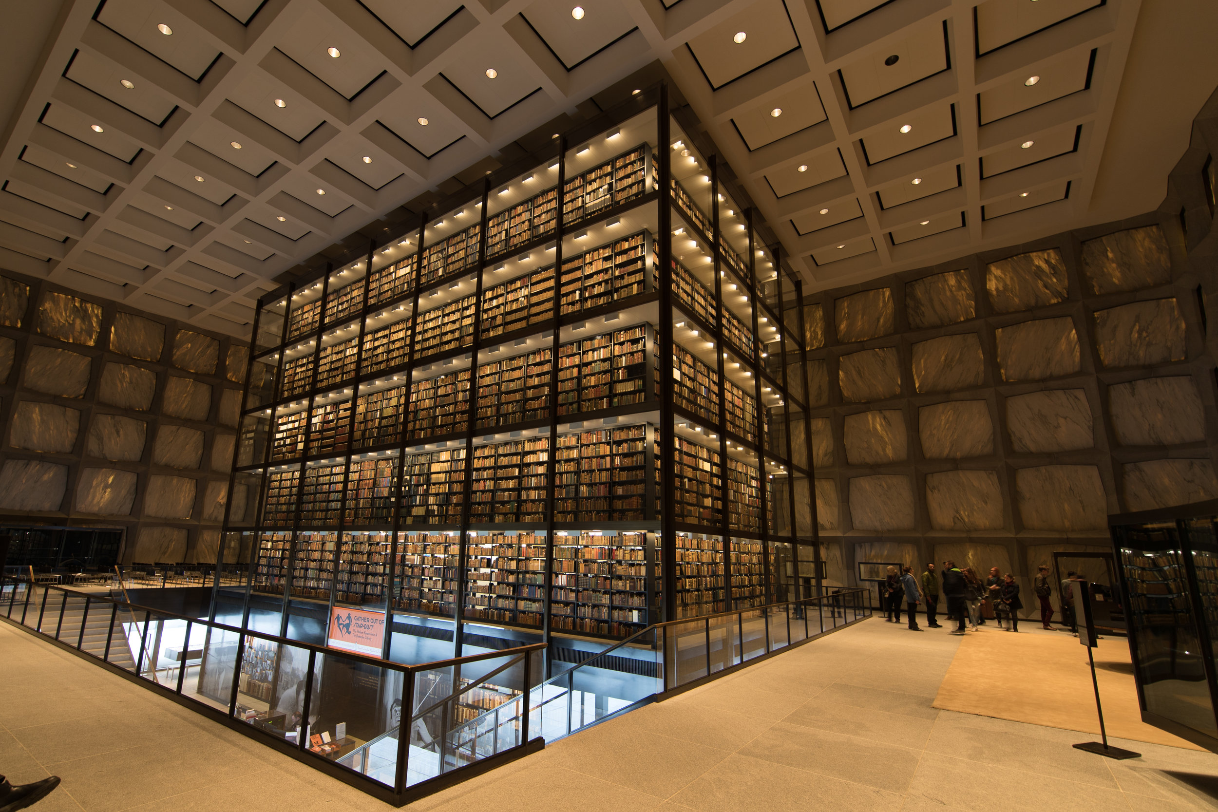 The Beinecke Rare Book & Manuscript Library at Yale University in New Haven, CT.  Photo by  Michael Kastelic  used here under  Creative Commons   Attribution-Share Alike 4.0 International