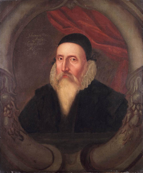 Portrait of John Dee, believed to have been painted when he was 67.
