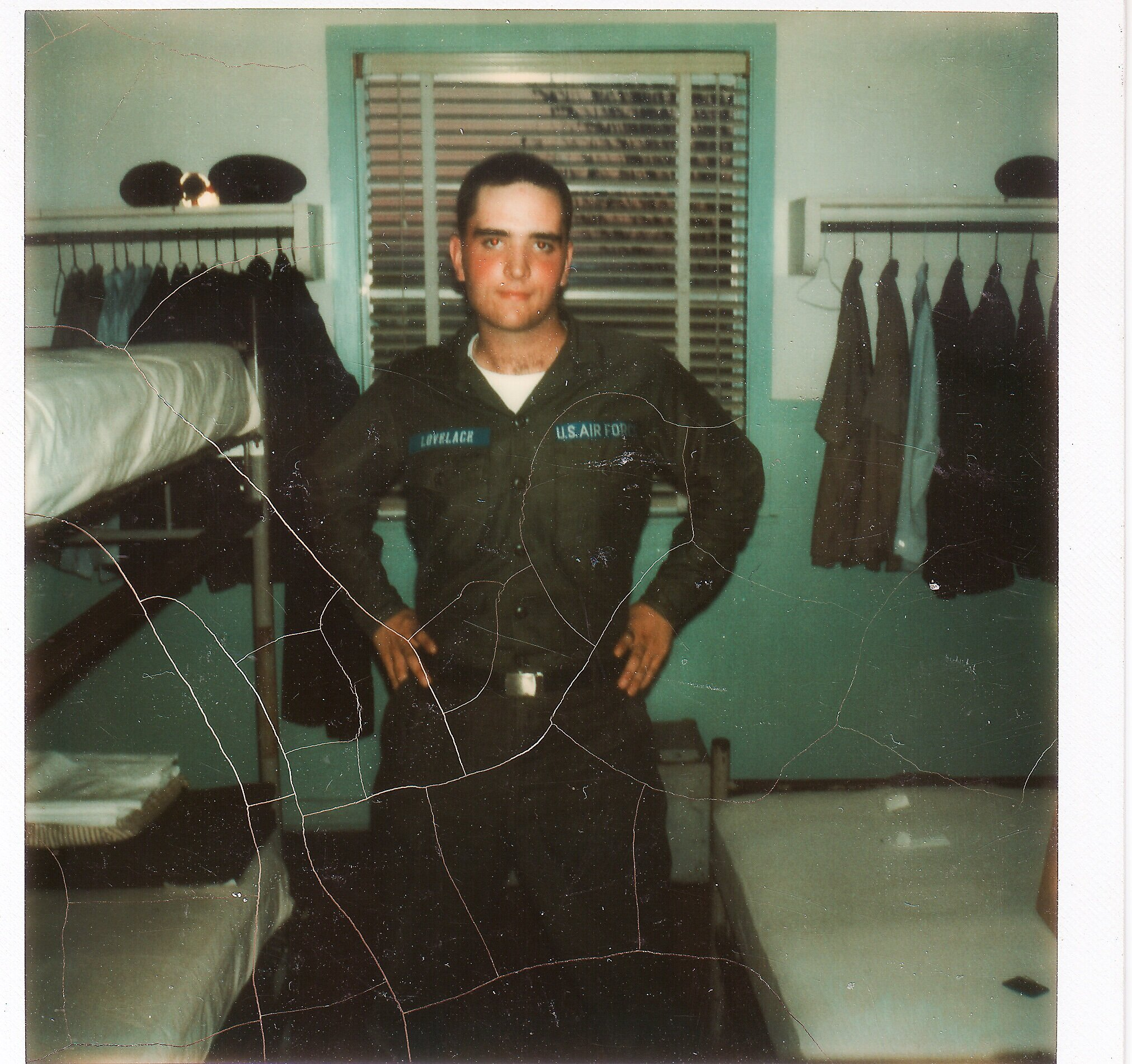 Terry awaiting assignment to Whiteman AFB in 1973.