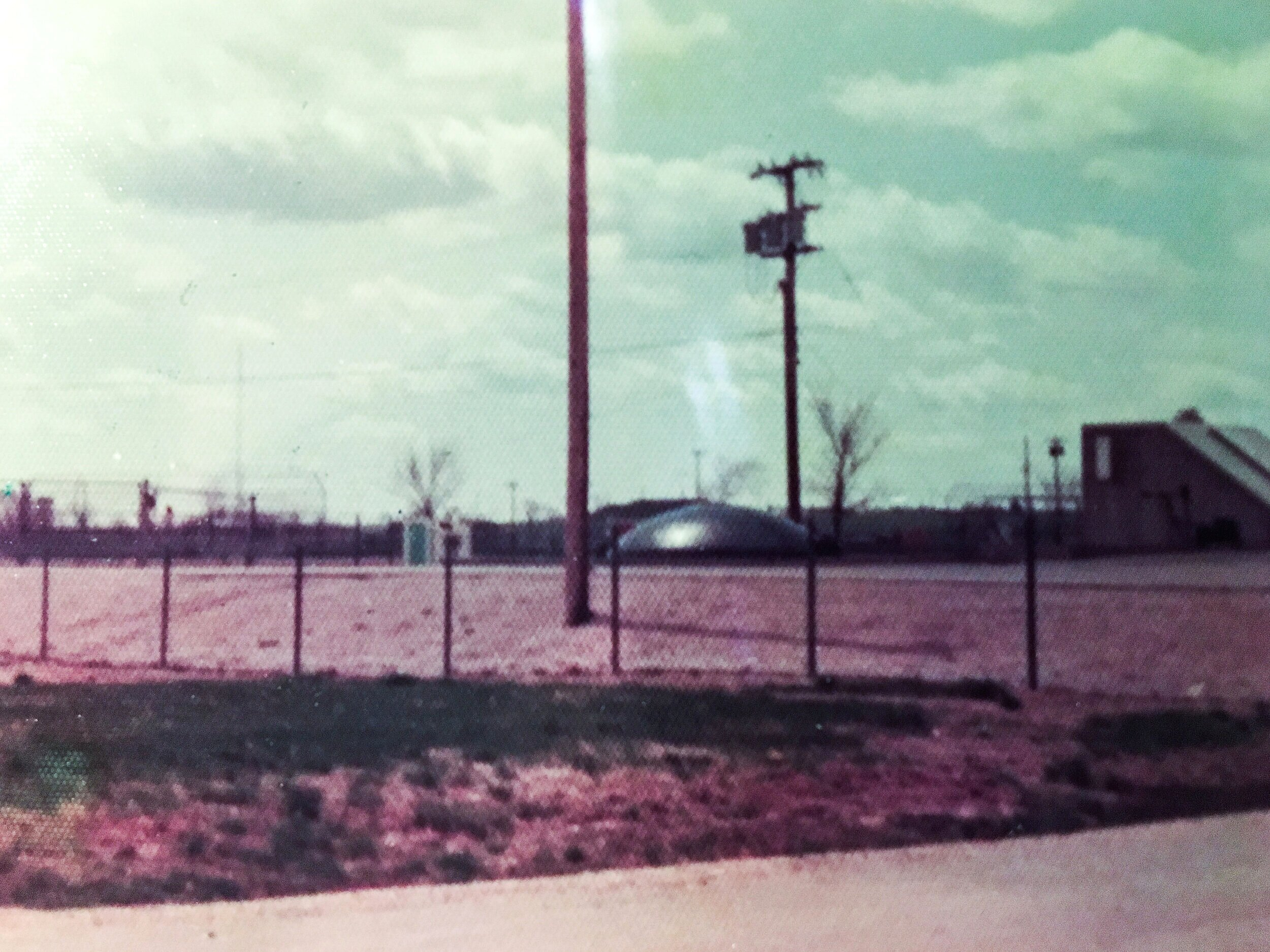 """Polaroid of Kilo-5 missile silo taken a few months after the sighting of the ""black diamond"" 1975"""