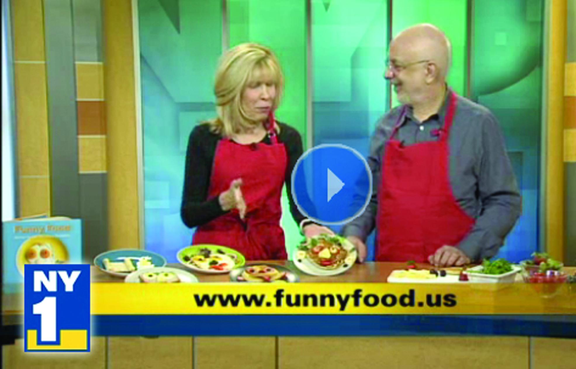 NY 1 TV host Shelly Golberg and Bill Wurtzel